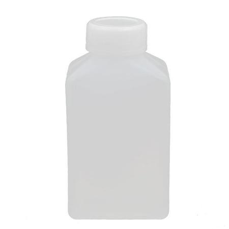 Unique Bargains 100ml HDPE Plastic Bottle Translucent DIY Square Bottle w Cover