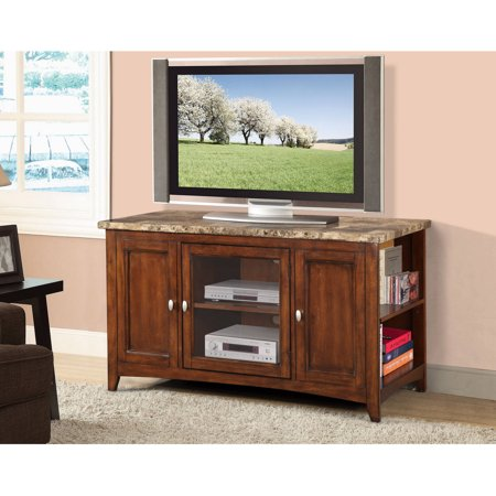 Chelsea Wood Veneer TV Stand for TV's up to 55″, Cherry