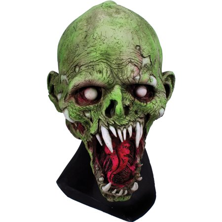Adult Mens UV Painted Shell Shocked Latex Mask Halloween Costume - Latex Paint Halloween
