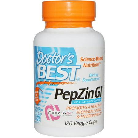 Doctor's Best PepZin GI Carnosine 37.5mg, 120 CT (Best Medication For Nausea)