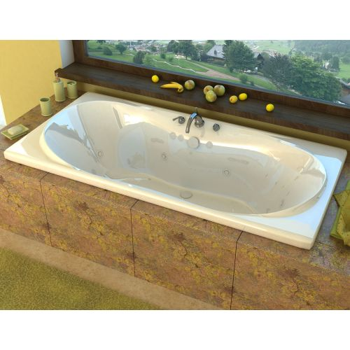 "Avano AV3672WWR Abaco 71-1/2"" Acrylic Whirlpool Bathtub for Drop-In Installations with Center Drain"