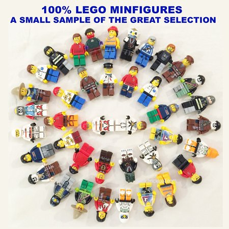 12 Random LEGO Minifigures - Brand New - Excellent Assortment of Mini Figs w/all Body Parts; Hat, Hair or Helmet.