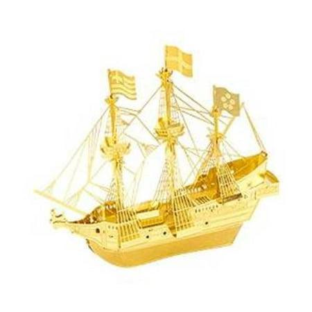 Model Ships Boats - Fascinations Metal Earth 3D Laser Cut Model Golden Hind Ship Boat - GOLDEN VERSION