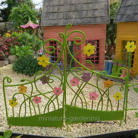 Miniature Flower Gate for Miniature Garden, Fairy Garden