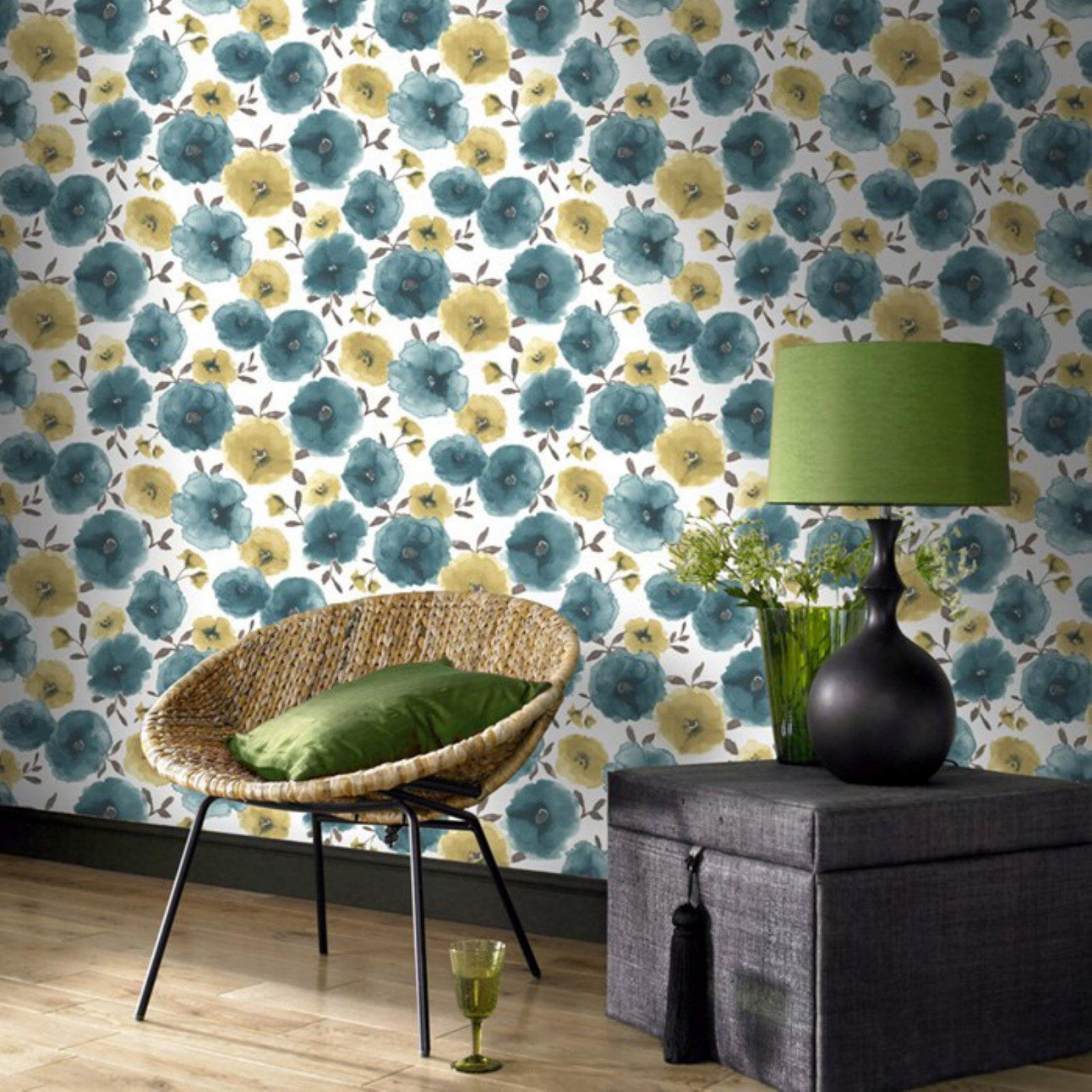 Graham /& Brown 32-456 Superfresco Easy Eden Wallpaper Lime//Teal