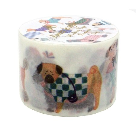 Aimez Le Style Primaute Collection New Design Fashionable Dogs Washi Masking Deco Tape Wide.