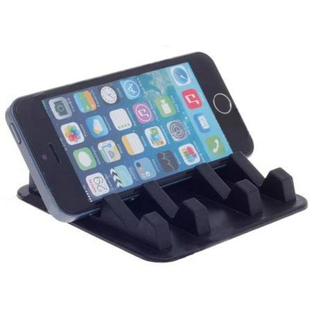Car Dashboard Mat Non-Slip Dash Holder Mount Stand Vehicle Desktop Phone Dock Black X3X for Alcatel OneTouch Fierce XL Flint, Pop 3, Tru - Blackberry DTek50, Priv - BLU Advance 5.0, Life One X2, R1 HD
