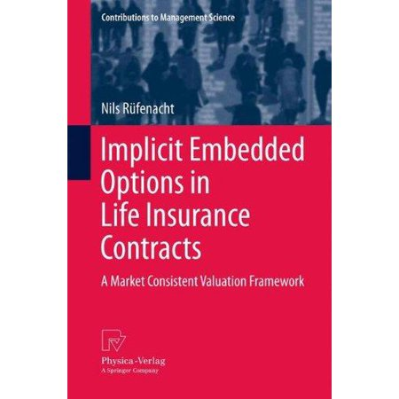 Implicit Embedded Options In Life Insurance Contracts  A Market Consistent Valuation Framework