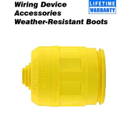 Leviton 6033-Y Plug Boot for 20 Amp and 30 Amp 4, 5-Wire Locking Device - (30 Amp 4 Wire Plug Wiring Diagram)