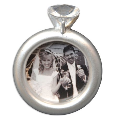 Engaged Couple Engagement Frame Personalized Christmas Ornament DO-IT-YOURSELF](Personalized Engagement Ornaments)