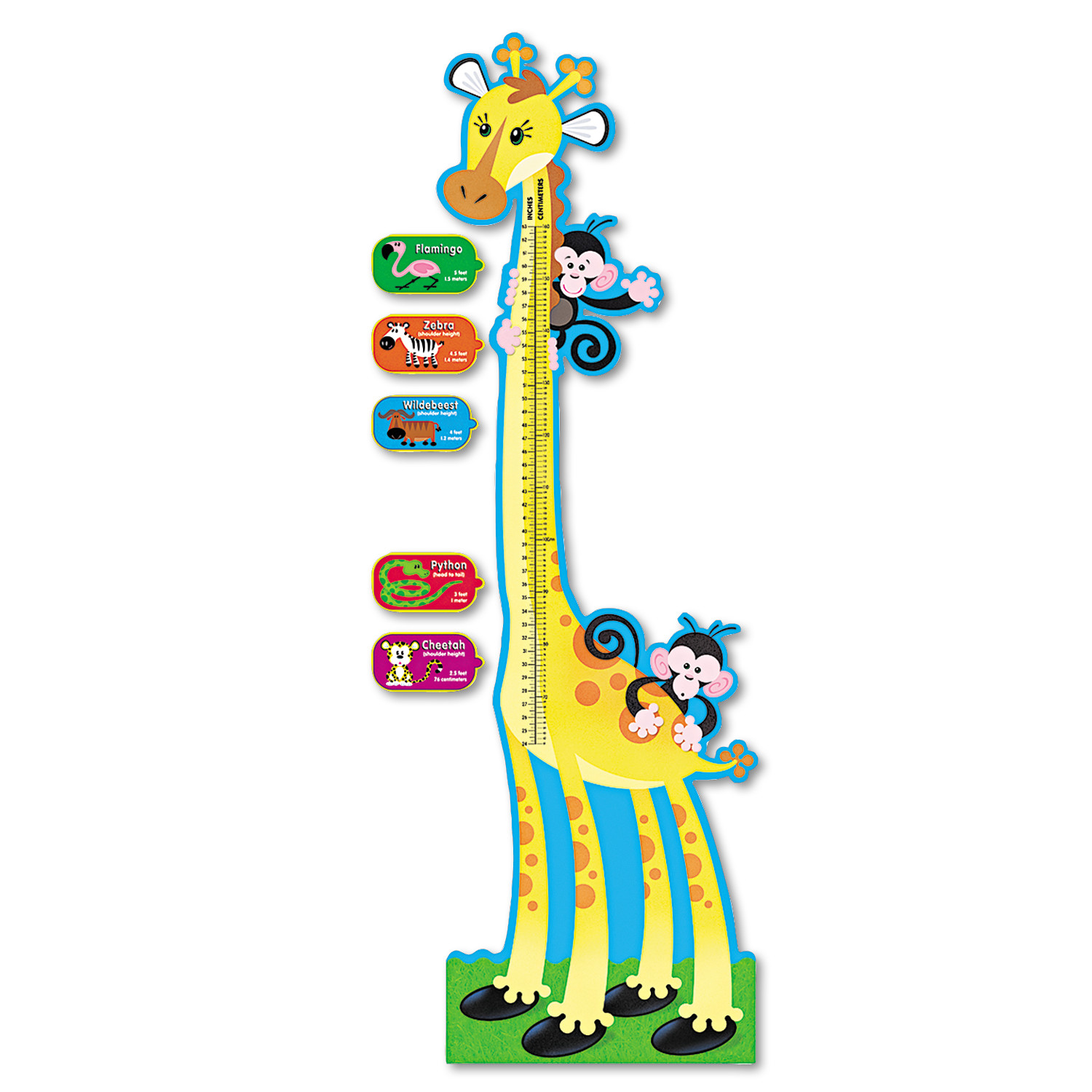 TREND Giraffe Growth Chart Bulletin Board Set, 6 ft