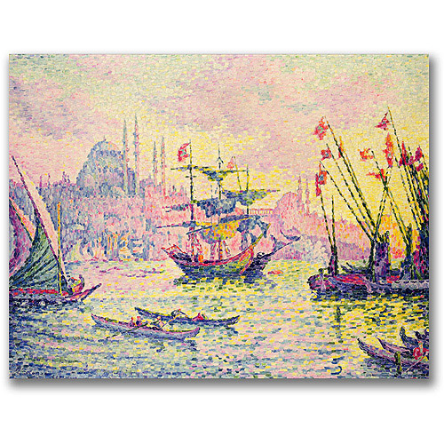 "Trademark Fine Art ""View of Constantinople"" Canvas Wall Art by Paul Signac"