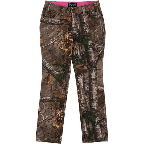 Realtree Xtra Ladies' 5-Pocket Rinsed Pants, Camo