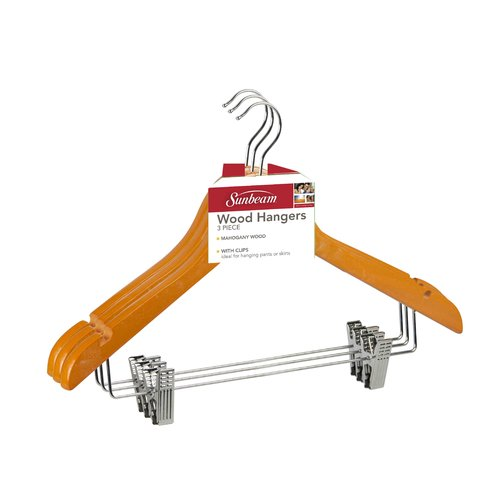 Home Basics Hanger with Metal Clip (Set of 2)