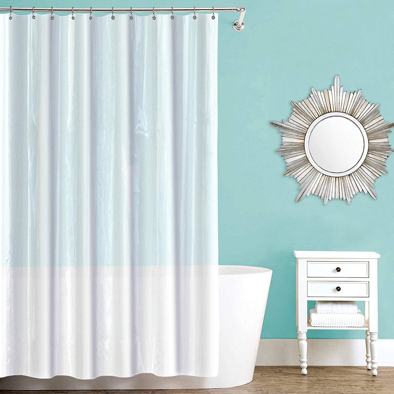"100/% PEVA Mold /& Mildew Free 70/"" x 72/"" Shower Curtain Liner"