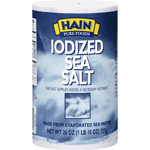Hain Iodized Sea Salt, 26 oz