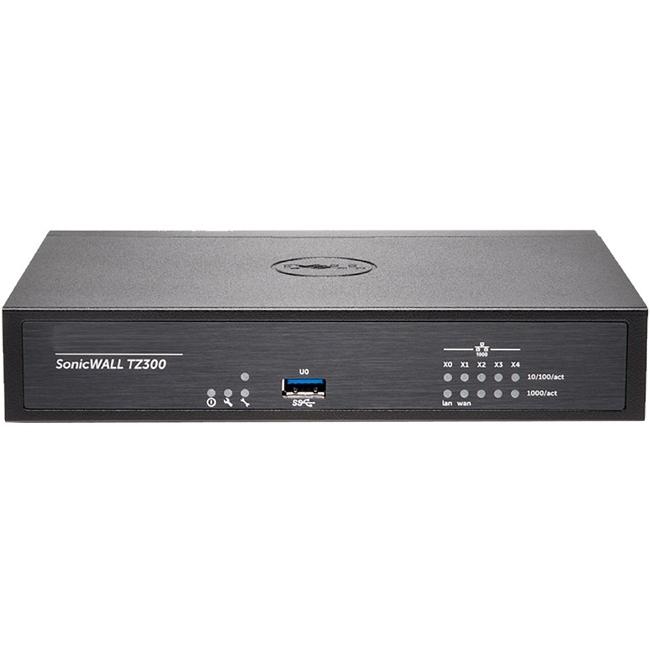 Sonicwall TZ300 Network Security/Firewall Appliance - 5 P...