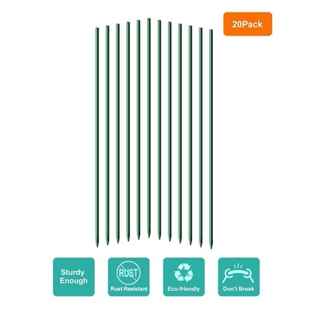 Mr.Garden Garden Stakes 5 ft Plant Stakes for Tomato Orchid Sunflower, Pack of 20