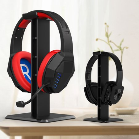 TSV Headset Hanger Mount, Anti-Slip Gaming Earphone Desk Holder Headphone Display Hanger Stand Black Bracket Suitable for all headband (Best Head Mounted Display For Gaming)