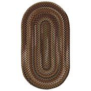 Bangor 0070 Concentric Braided Rectangle Area Rug - Very Charcoal