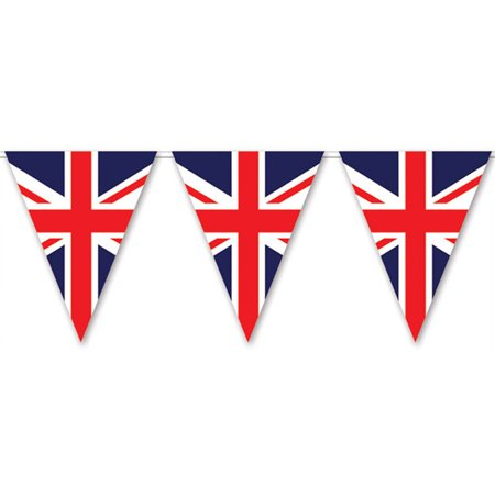 Union Jack Red White Blue Flag Pennant Streamer Party Banner Decoration - Union Jack Decorations