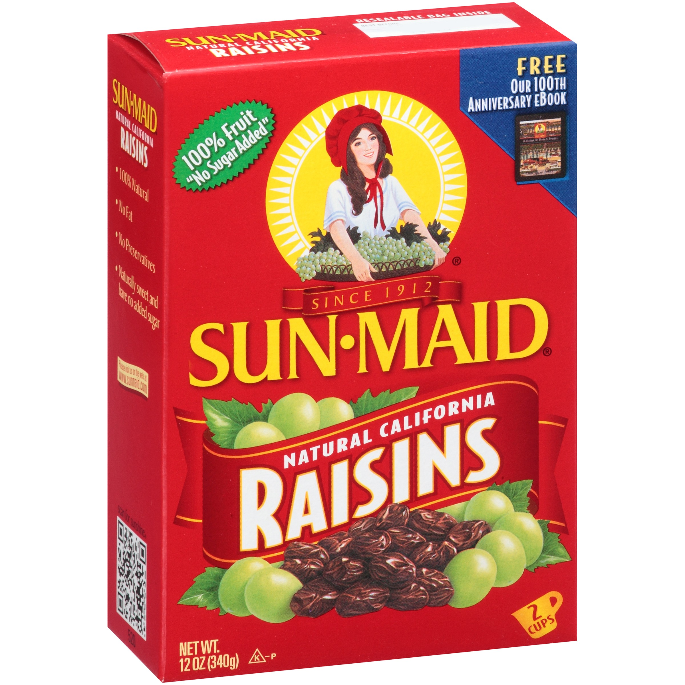 (3 Pack) Sun-Maid California Raisins, 12 Oz