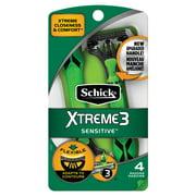 Schick Xtreme 3 Sensitive Skin Men's Triple Blade Disposable Razor - 4 count