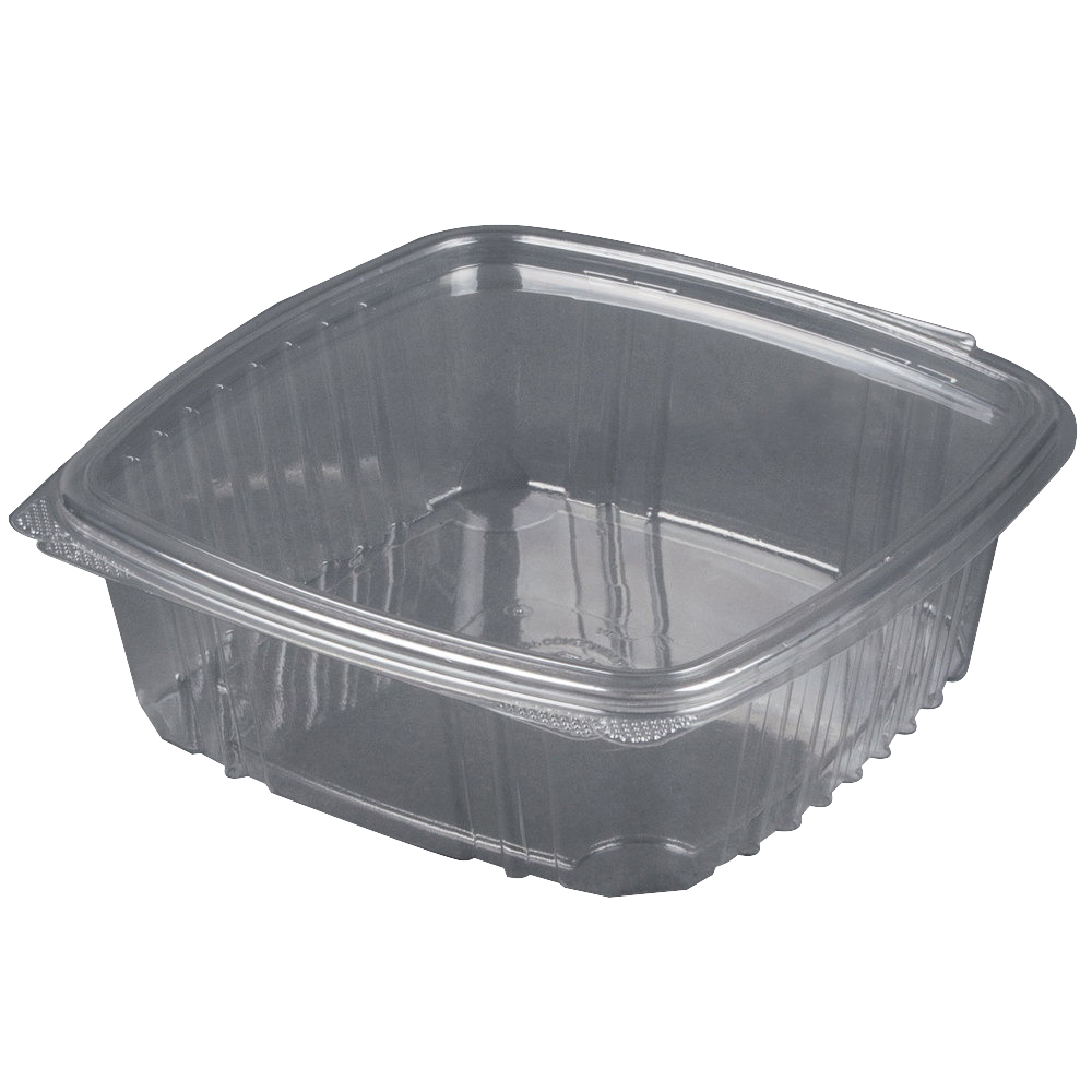 Genpak Secure Seal APET Plastic Rectangle Food Container Clear, 48 oz. | 200/Case