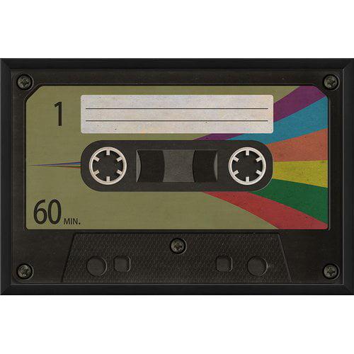 The Artwork Factory Cassette Tape Blank Framed Graphic Art by Blueprint Artwork