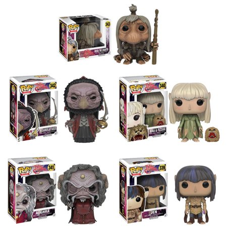 1982 Collector - The Dark Crystal Jen-Kira w/ Fizzgig-Aughra-Chamberlain Skeksis-UrSol Funko Pop Movies Vinyl Figure (Collector Toy Set of 5) Jim Henson 1982 Classic Retro Movie Merchandise Fantasy Collectible
