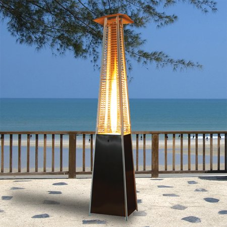 XtremepowerUS Outdoor Patio Heater Tower Pyramid Flame LP 42000BTU,