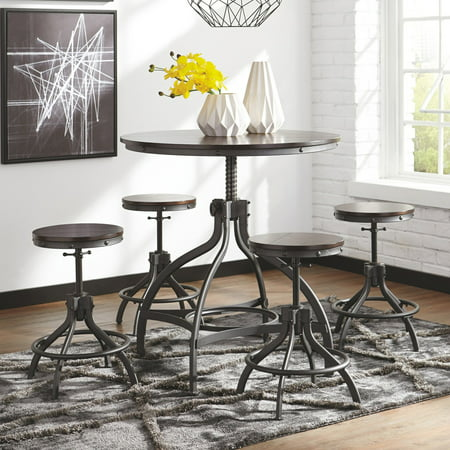 Remarkable Signature Design By Ashley Odium 5 Piece Adjustable Height Dining Table Set Gamerscity Chair Design For Home Gamerscityorg