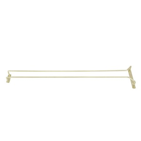 GH-24, 24-Inch Brass Plated Wire Glass Hanger Rack, Single Channel Bar Glass Holder, Stemware Rack, The ultimate tool for every professional bartender that has to deal.., By (Brass Plated Glass Hanger Rack)