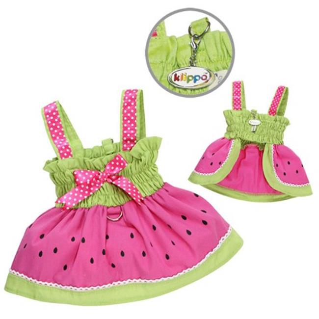 Klippo Pet KDR056LZ Juicy Watermelon Sundress With Large D-ring - Large