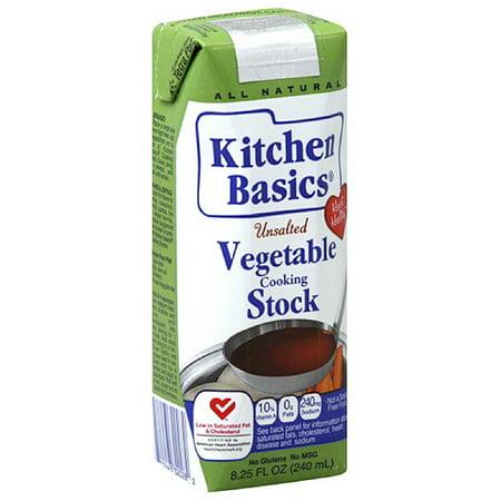 Kitchen Basics Unsalted Vegetable Stock, 8.25 fl oz, (Pack of