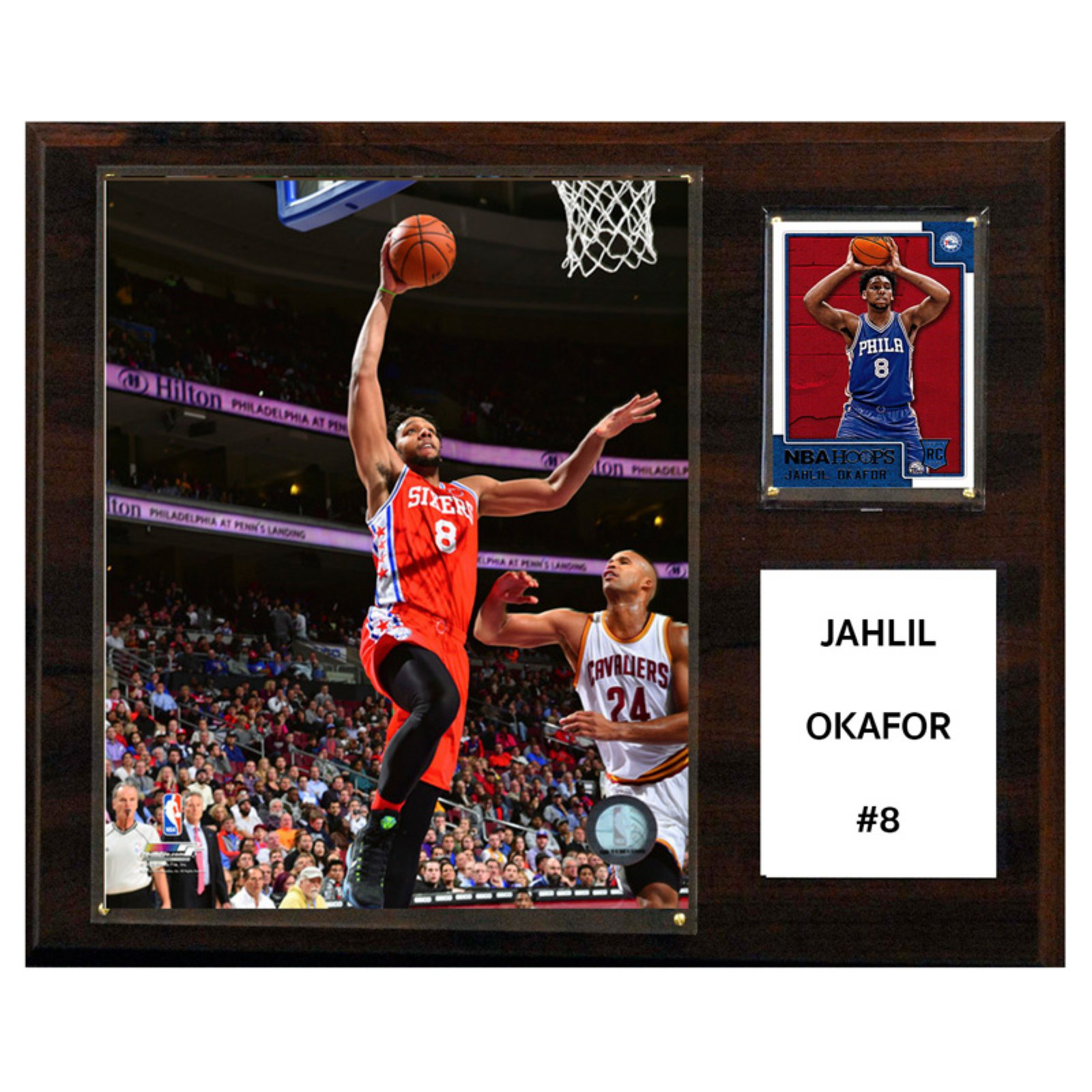 C&I Collectables NBA 12x15 Jahlil Okafor Philadelphia 76ers Player Plaque