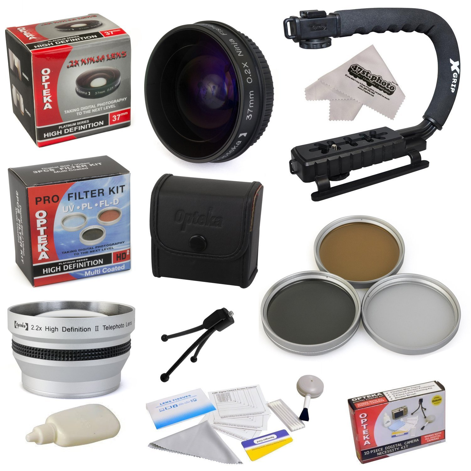30.5mm 3 Piece H All Sport Accessory Package Kit for JVC GZ-HD320 GZ-HM200 GZ-HM400 GZ-MG630 GZ-MG670 GZ-MG680 GZ-MS120 GZ-MS130 GZ-X900 Camcorder Video Camera includes 37mm 2.2x Extreme HD AF Telephoto Lens 37mm 0.2X Low-Profile Ninja Fisheye Lens
