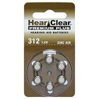 60 Hearclear Hearing Aid Batteries Size: 312