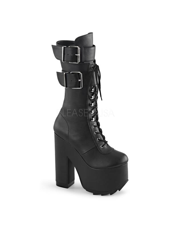CRAMPS-202 Demonia Vegan Boots Womens Blk Vegan Leather Size: 7 by