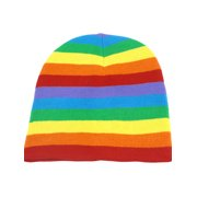 Unique Bargains Colorful Elastic Acrylic Knitted Skiing Braided Ribbed Beanie Hat for Unisex