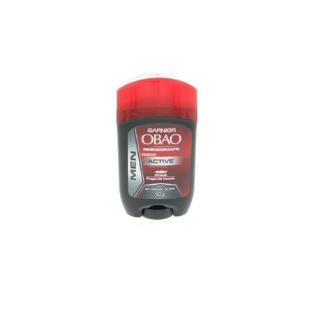 Obao Mens Active Deodorant Stick 50g - Barra Activo Desodorante para Hombre (Pack of 2)