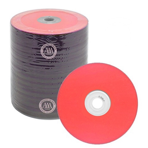 100 Spin-X Diamond Certified 48x CD-R 80min 700MB Red Color Top Thermal