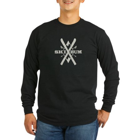 3e5e20061 CafePress - CafePress - Vintage Ski Bum - Long Sleeve Dark T-Shirt -  Walmart.com
