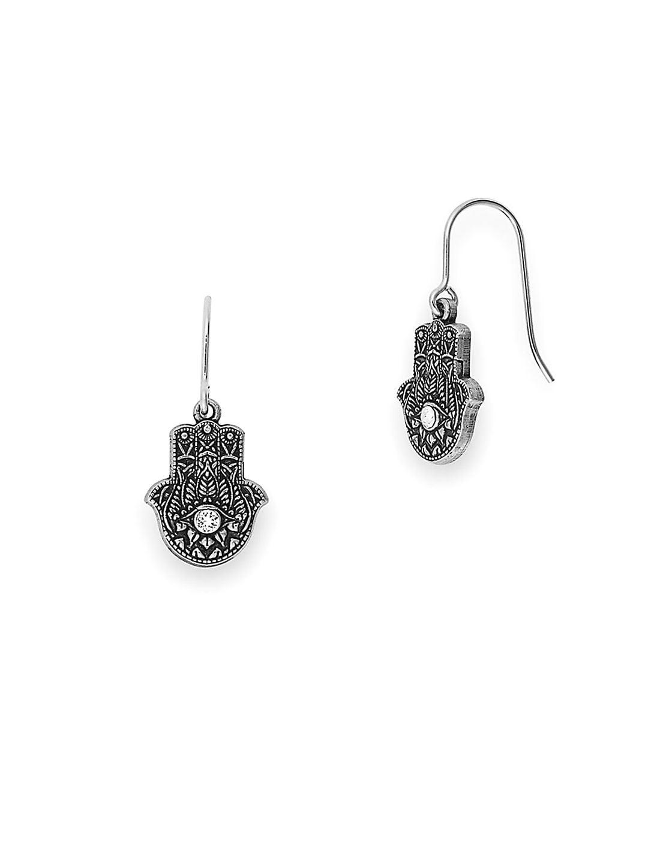 Hand of Fatima Hook Earrings