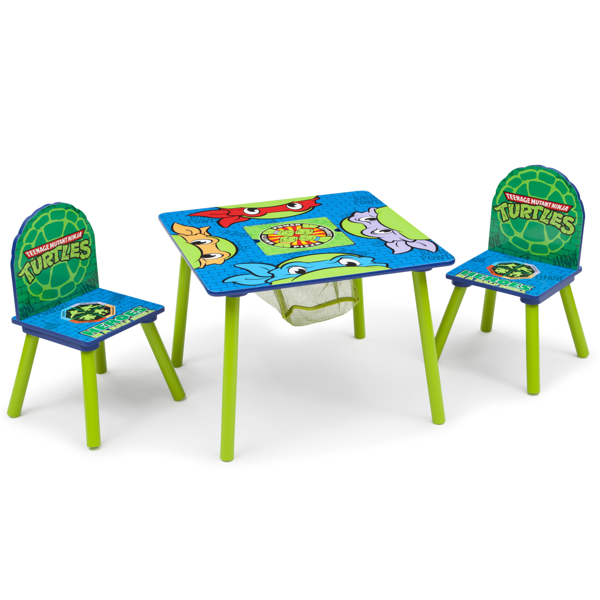 Teenage Mutant Ninja Turtles Toddler Table and Chair Set with Storage