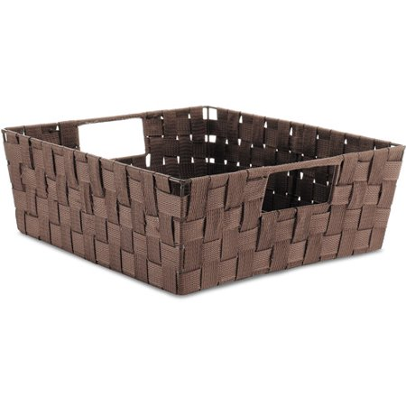 Raffia Woven Tote - Whitmor Woven Strap Shelf Storage Tote, Multiple Colors