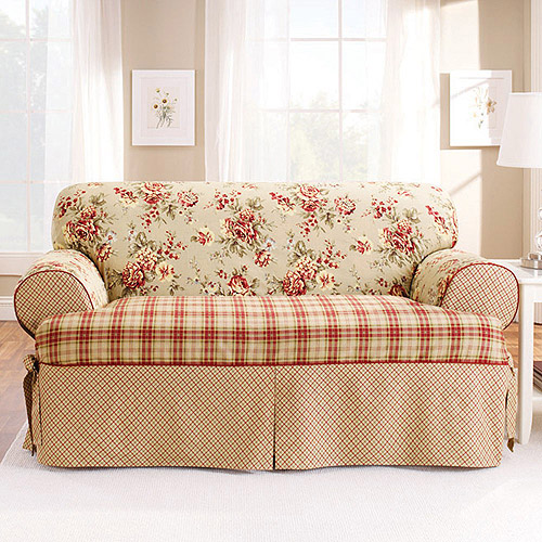 Sure Fit Lexington T Cushion Loveseat Slipcover Walmart