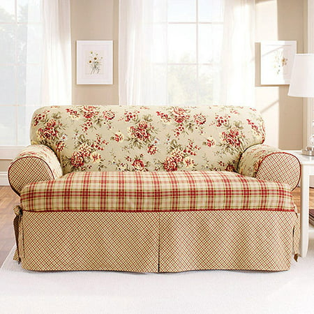 fit relaxed cushion piece furniture p s chair slipcovers slipcover serta t loveseat duck khaki used