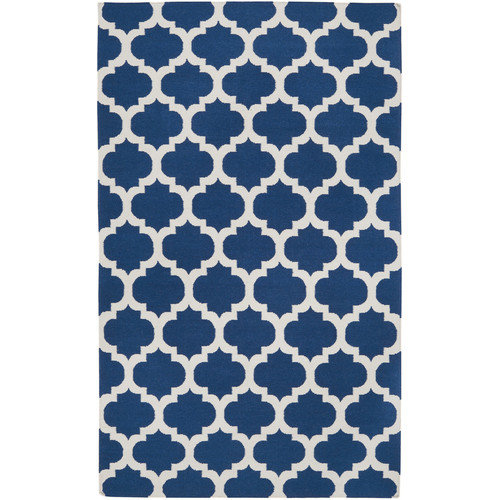 Surya Frontier Mediterranean Blue & Winter White Area Rug