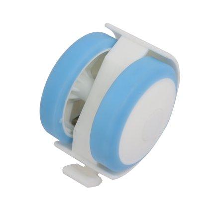 2pcs 2 pouces diamètre tige 6.5mm Roulette frein pivotant Bleu Blanc pour lit bébé - image 1 de 3